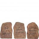 Poly stone Madlin, standing, 3 motifs, H20cm, b